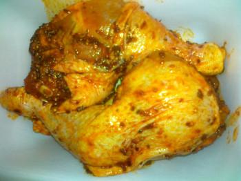 Cuisses de poulet marinées x2