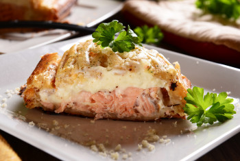 Tourte au saumon